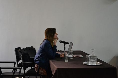 Conferencia inaugural de Laura Vazquez en la Usach