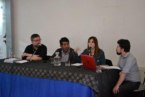 Eduardo Elorza, Alejandro Salazar, Laura Vazquez y Hugo Hinojosa, Coversatorio Encuentros de historieta