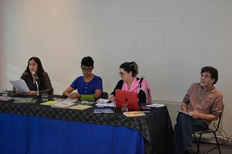Jesús Cossío y los alumnos de su taller