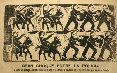 Conexiones gráficas  a través de 100 años: La policía y el pueblo