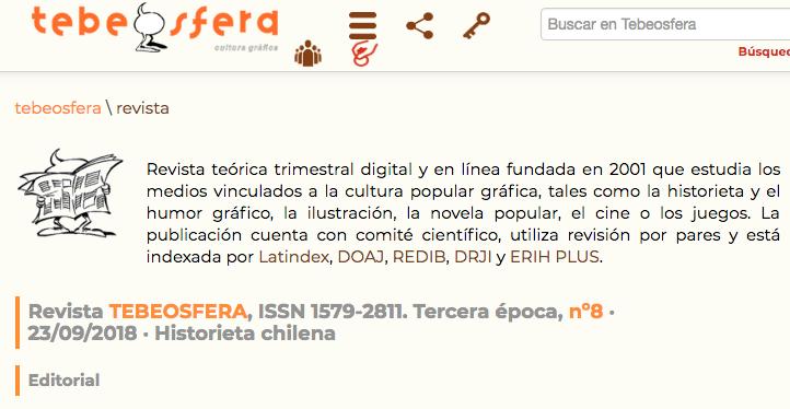 Tebeosfera publica dossier sobre la historieta chilena
